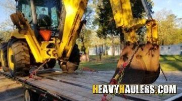 New holland backhoe transport