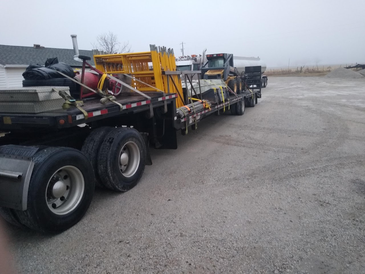 Skid steer transport in Louisiana
