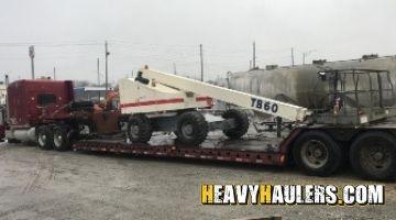 Terex boom lift transport