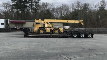 Crane being delivered to New Jersey
