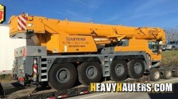 Transporting a Liebhermobile crane
