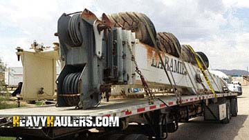 Using a Flatbed to Transport a 2007 Terex RT175 Crane