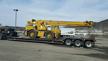 Construction Crane Shipping