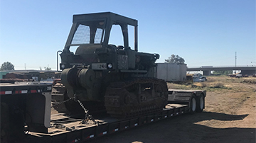 Shipping a 1987 Caterpillar D7G dozer on a RGN trailer