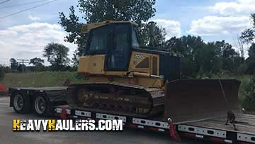 Transporting a oversize John Deere JD700 dozer