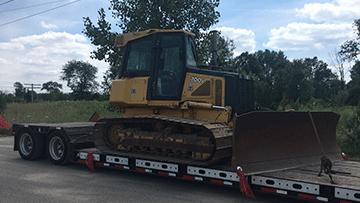 Shipping John Deere 700 Bulldozer