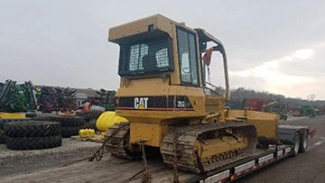 Caterpillar D5G LGP Bulldozer In Transport