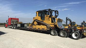 Caterpillar D6T Bulldozer In Transport