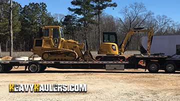 Bulldozer transport in Norht Carolina