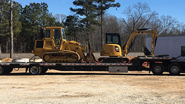 Caterpillar 943 Bulldozer In Transport
