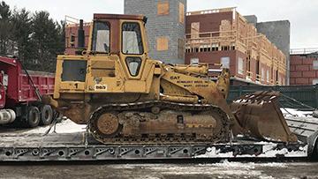 Caterpillar 963 Bulldozer In Transport