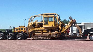 Transporting Caterpillar D8H Crawler Tractor