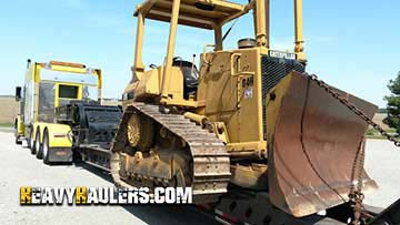 Caterpillar D4H Dozer In Transport