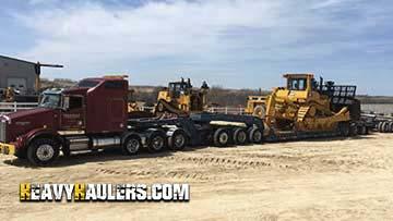 Caterpillar D9T Bulldozer In Transport