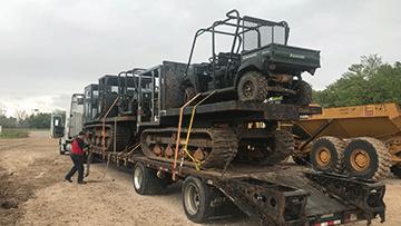 John Deere 450 Bulldozer In Transport