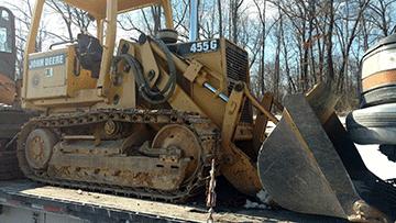 John Deere 455G Bulldozer In Transport