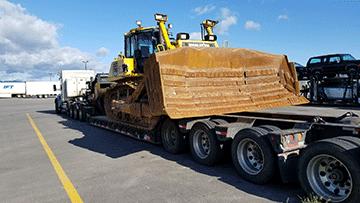 Komatsu D155AX-7 Bulldozer In Transport