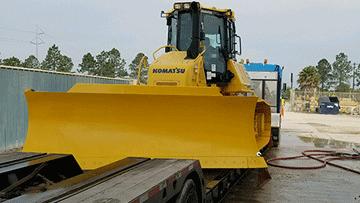 Komatsu D61PXi-24 Bulldozer In Transport