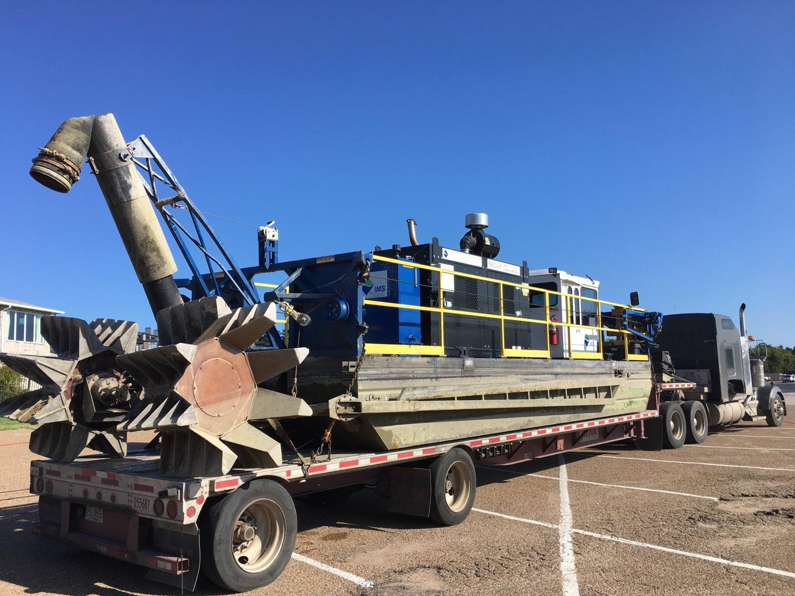 dredging machine transport
