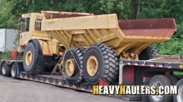 Shipping a CAT dump truck
