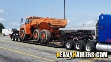 Doosan dump truck transported