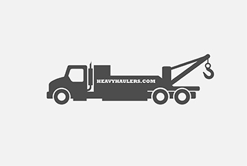 Flatbed tow truck illustration