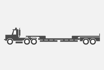 Oversize load hauling vehicle illustration