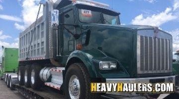 Kenworth dump truck transport