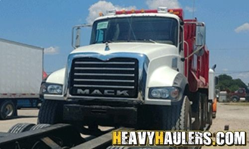 Transporting a 2008 Mack Dump Truck