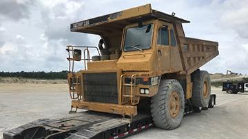 Shipping a dump truck in South Dakota