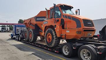 Doosan DA30 Dump Truck In Transport