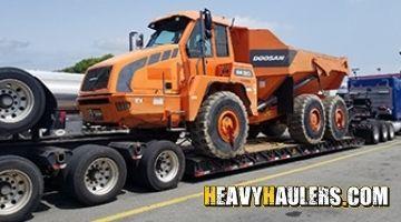Doosan DA30 Articulated Dump Truck In Transport