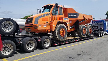 Doosan DA30 Articulated Dump Truck In Transport