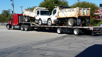 Single Axle Dump Trucks In Transport
