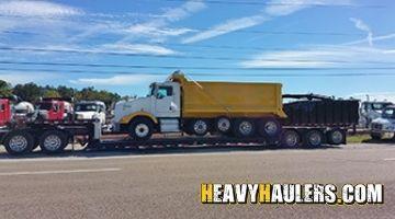Dump truck transport in Nebraksa