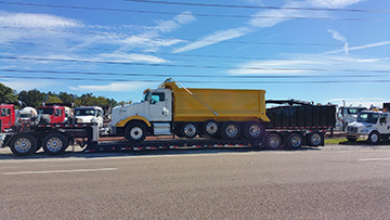 Kenworth Quad Axle Dump Truck In Transport