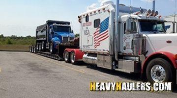 Dump truck transport in Vermont
