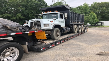 Dump truck shipped to New Jersey