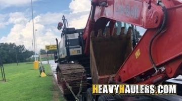 Shipping excavator from Alabama