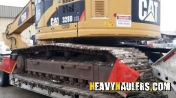 Excavator transport in Hawaii