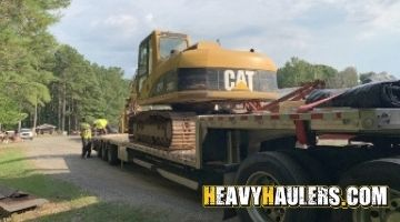 Shipping a CAT excavator