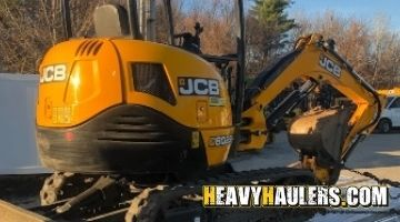 JCB mini excavator transport