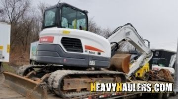 Bobcat excavator transport