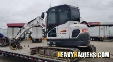 Bobcat mini excavator transport