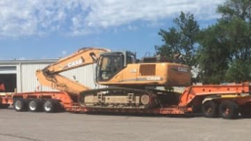 Shipping a Case excavator