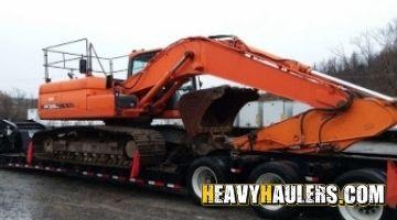 Doosan excavator transport