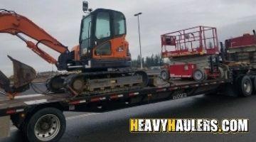 Nebraska excavator transport