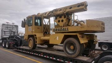 Gradall excavator transpor