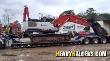 Excavator transport in Tennessee
