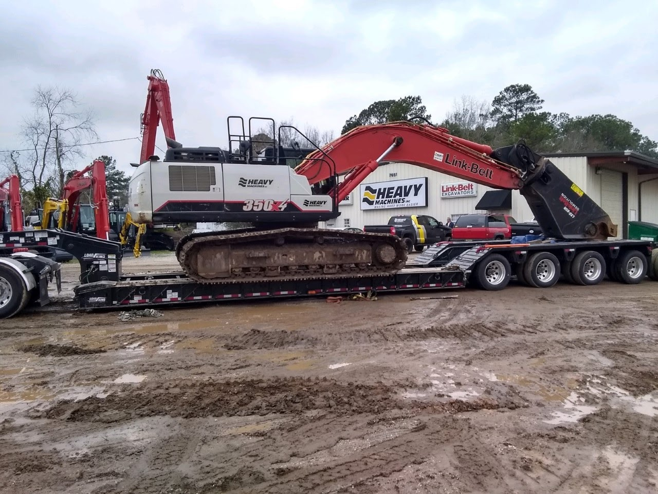 Shipping an excavator in Tennessee
